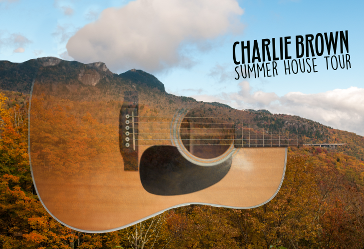 I designed this poster for my friend, Charlie Brown, who is a singer/songwriter. This summer, he performed at many different concerts, but he didn't have a set list of performances and he performed at many shows without much notice. This general poster helped to convey who Charlie was, what his music was about while remaining general enough to work in any place he could perform. The image itself is a fusion of a Martin D-18p, the guitar he uses, and Grandfather Mountain, which is a ten-minute drive from his house. Charlie's music is heavily influenced by his the mountains of North Carolina, so I thought combining them with his music would convey that well.