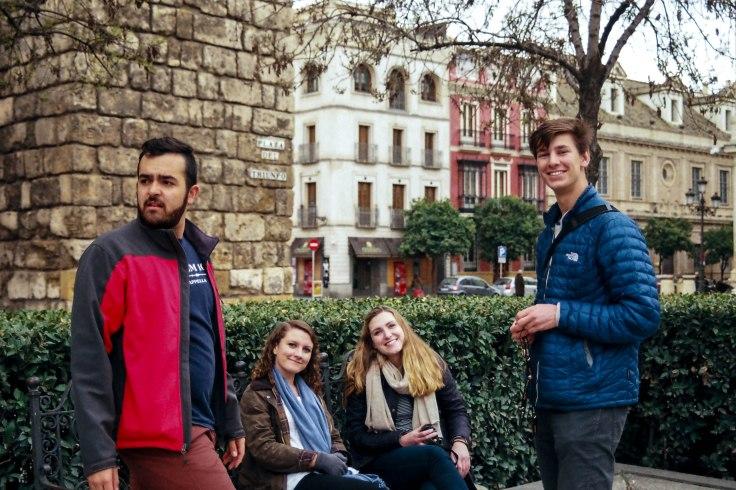 JP Zalaquette, Brittany Aves, Caroline Frame and Sebastian Nabatoff   Sevilla 2017
