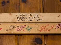 Plank signed by the late Deah Barakat during a Habitat for Humanity Build on the tenth anniversary of 9/11.