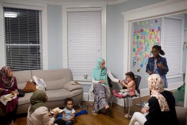 Families gathered to celebrate Ramadan.