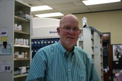 Phil Icard, of People's Pharmacy, Taylorsville's only pharmacy.
